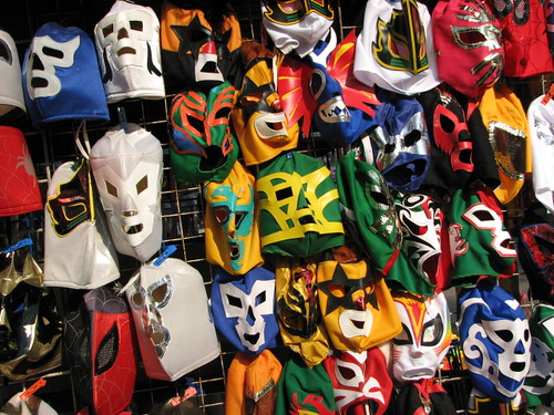 Mexico: Mascaras de Lucha Libre (Wrestling masks with Creative Commons Attribution-Share Alike License)