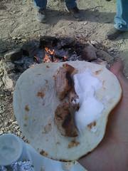 campfire pork taco