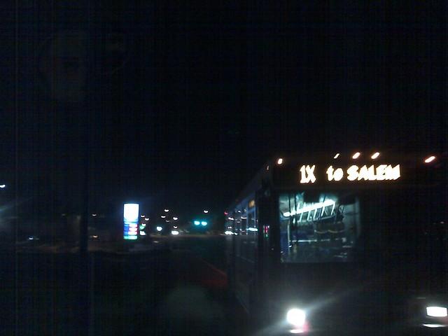 Salem Cherriots bus at TriMet bus stop