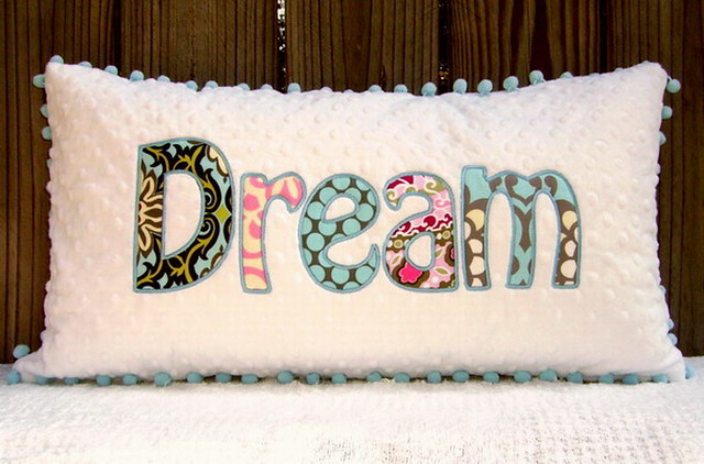 Personalized Applique Minky Pillows