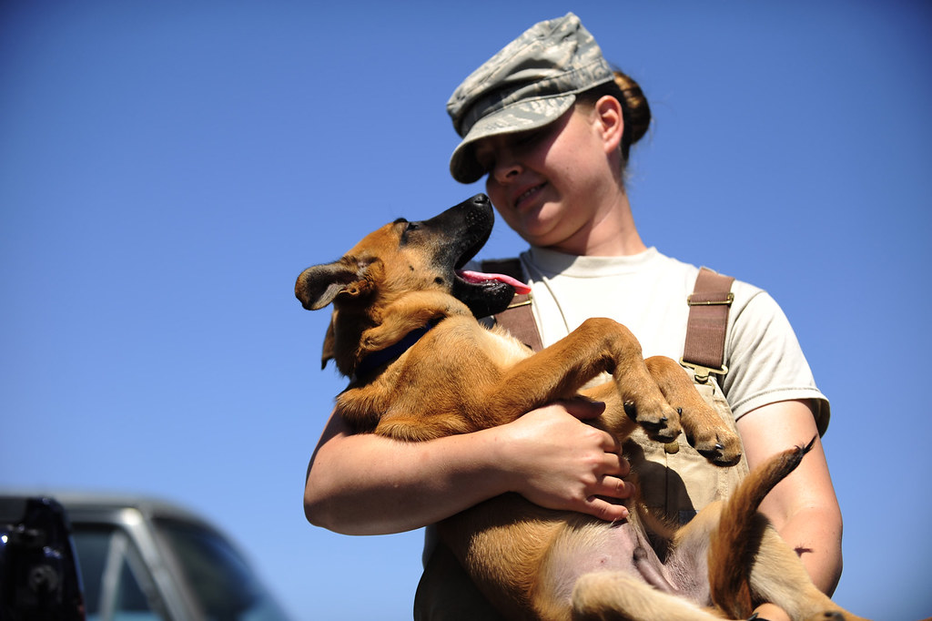 Staff Sgt. Christa Quam and pupper by ♪_Lisa_♪