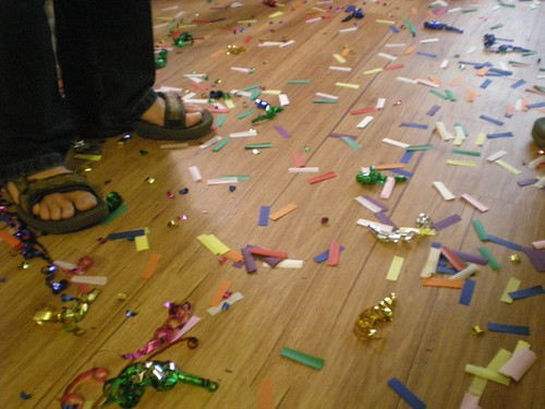 confetti aftermath