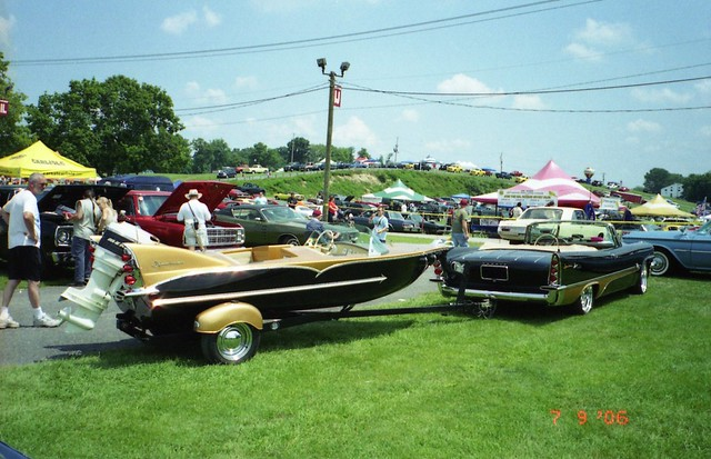 1957 DeSoto Adventurer convertible and 1957 Herters Flying Fish