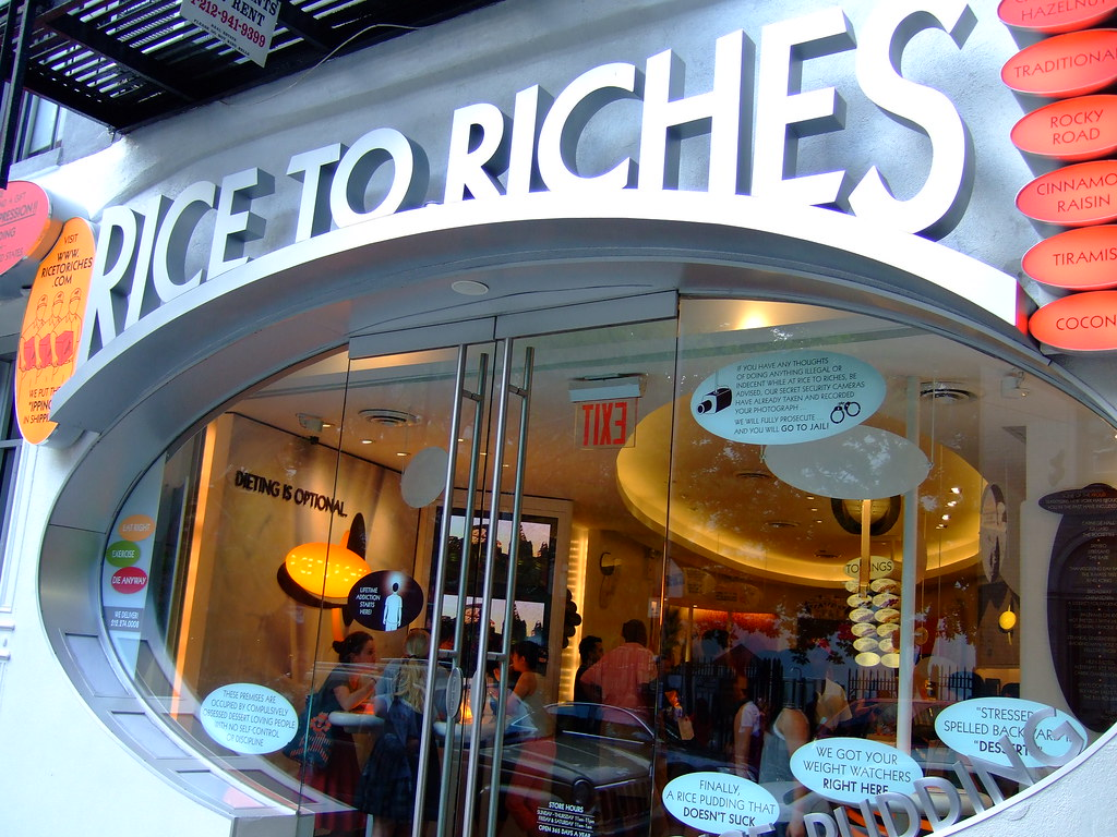 Rice to Riches | a rice pudding store. no joke.think of ...