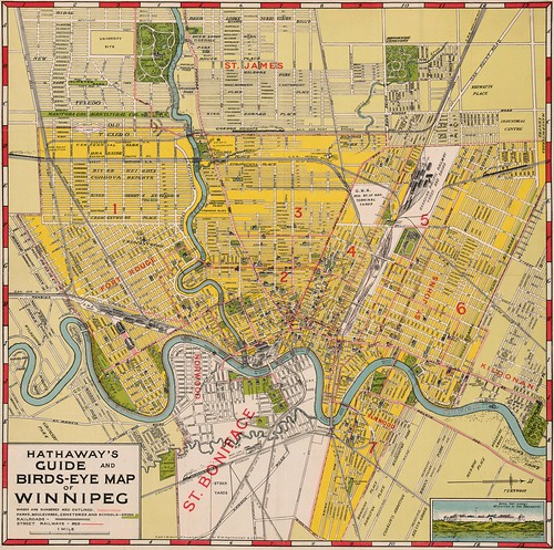 Hathaway's Guide and Birds-Eye Map of Winnipeg (1911) | by Manitoba Historical Maps