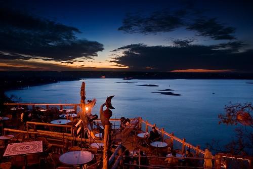 sunset sky lake water austin restaurant texas unitedstates united oasis states laketravis tnw top20texas bestoftexas