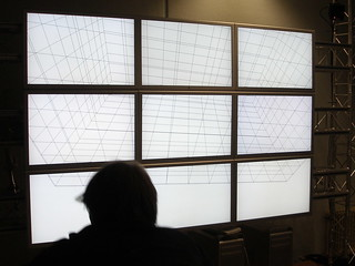 An Array of Large Screens with 3D-Tracking at UbiComp-Lab, HAW | by mprove