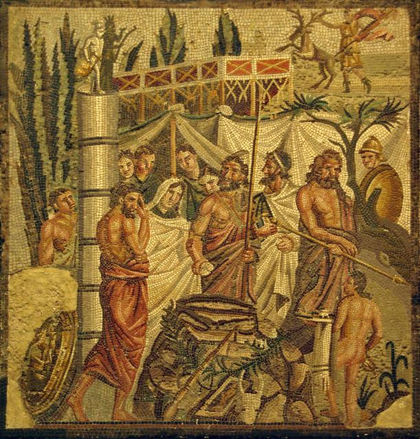 Sacrifici d'Ifigenia, mosaic d'Empúries