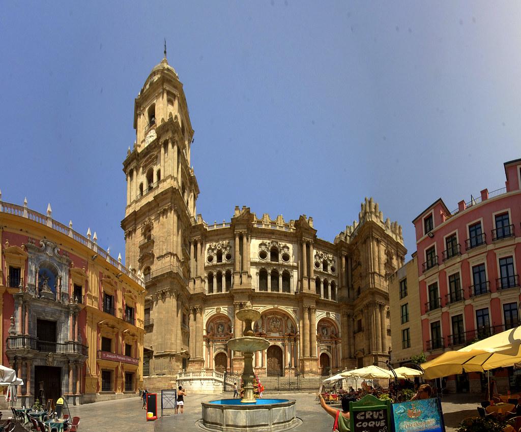 Plaza Del Obispo Malaga Panoramica De La Plaza Del Obispo Flickr