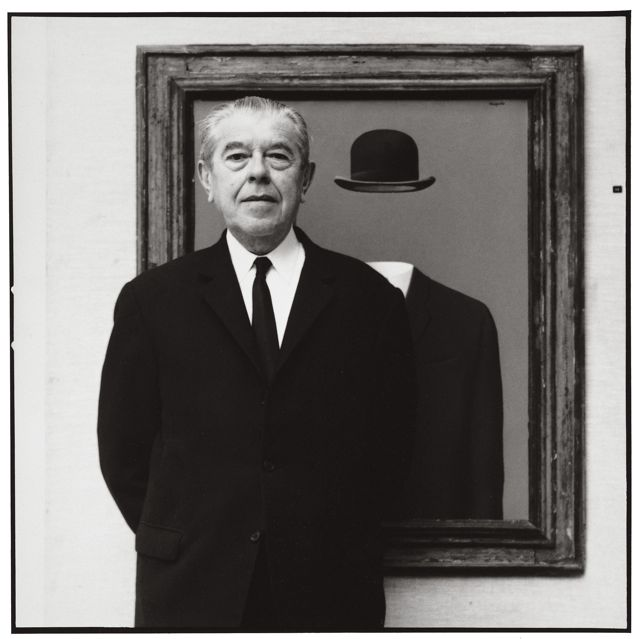 René Magritte by Lothar Wolleh