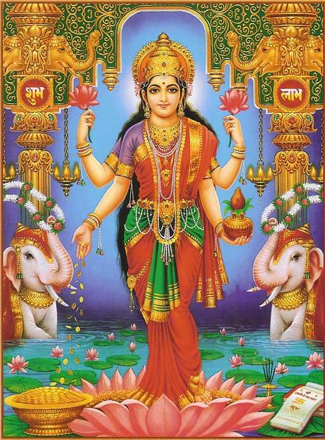 The Goddess-- Maha Lakshmi, the consort of Lord Vishnu