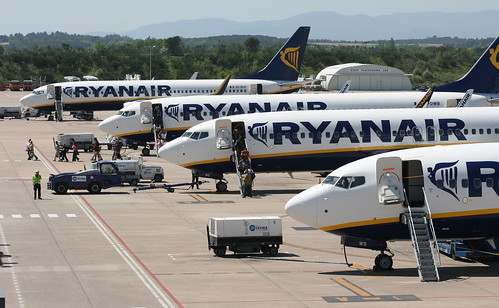 Ryanair boeings, Girona