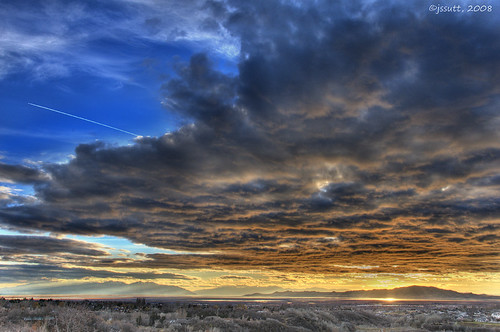 sunset clouds utah contrail greatsaltlake contrails dri hdr daviscounty jssutt jeffsuttlemyre