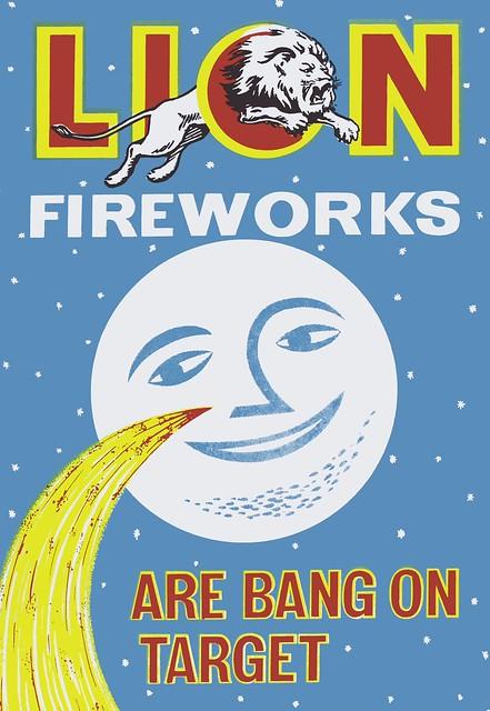 Lion Firework Poster - Are Bang On Target