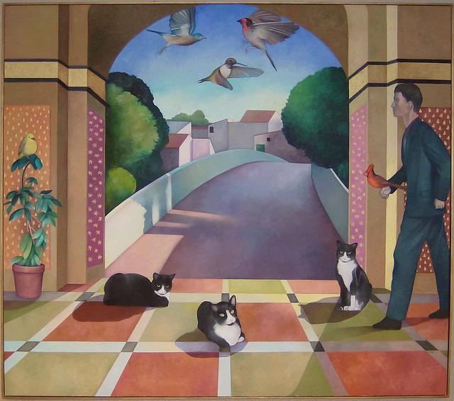 La Placita by Gail Marcus-Orlen, 1992, oil on canvas, 41 X 46