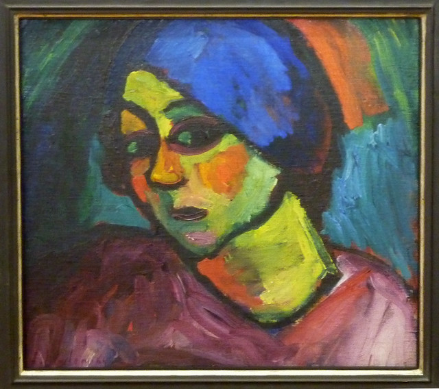 Alexej Jawlensky - Helene with a blue turban (1911)