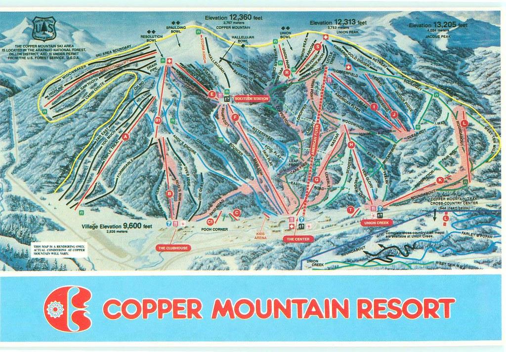 Colorado - Copper Mountain Ski Trails Map - TO TRADE   Flickr