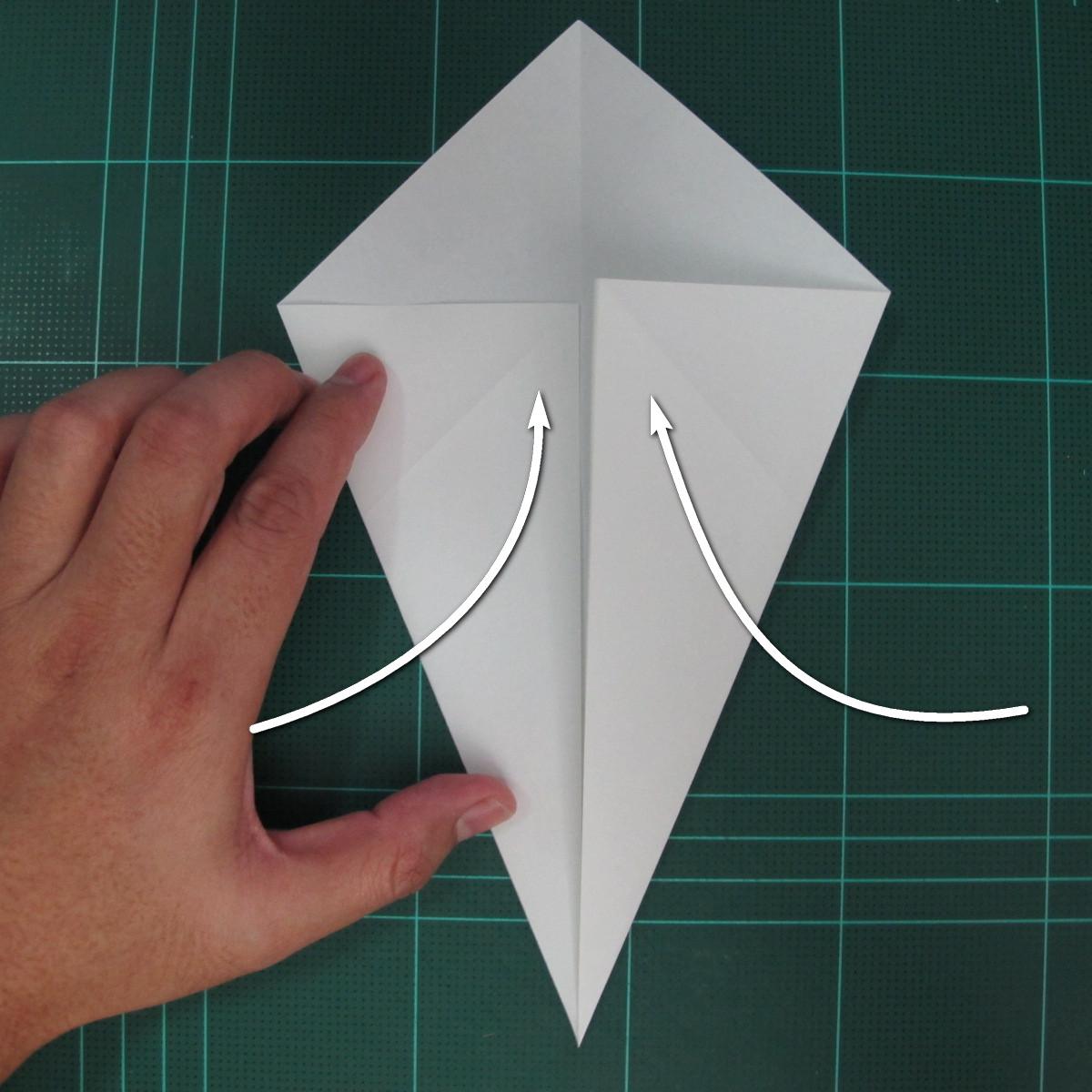 วิธีพับกระดาษเป็นรูปปลาแซลม่อน (Origami Salmon) 003