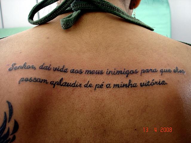 Tatuagem Frase Nas Costas 3 A Photo On Flickriver