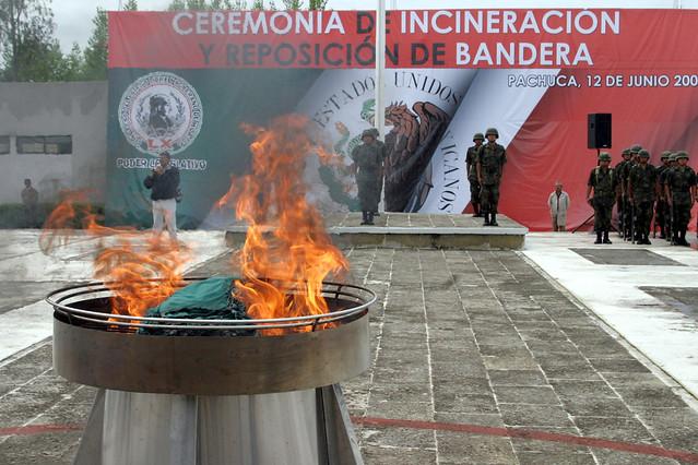 Incineración de Bandera