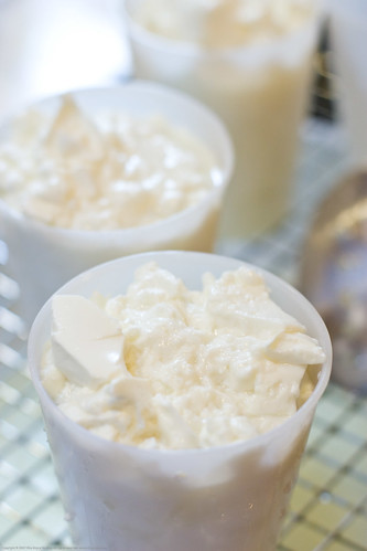Making Chevre: curds in the mold | by nikaboyce