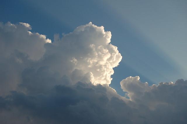 July 11, 2008 - Cool Rays & Cumulonimbus Clouds!