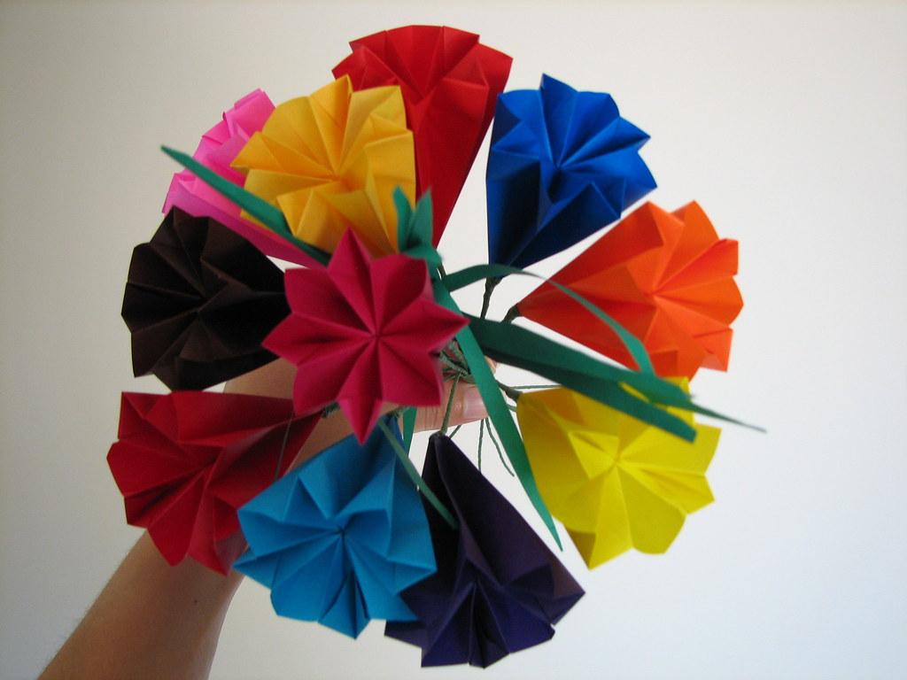 10 Origami Kusudama flowers in a pearlescent du... - Folksy | 768x1024