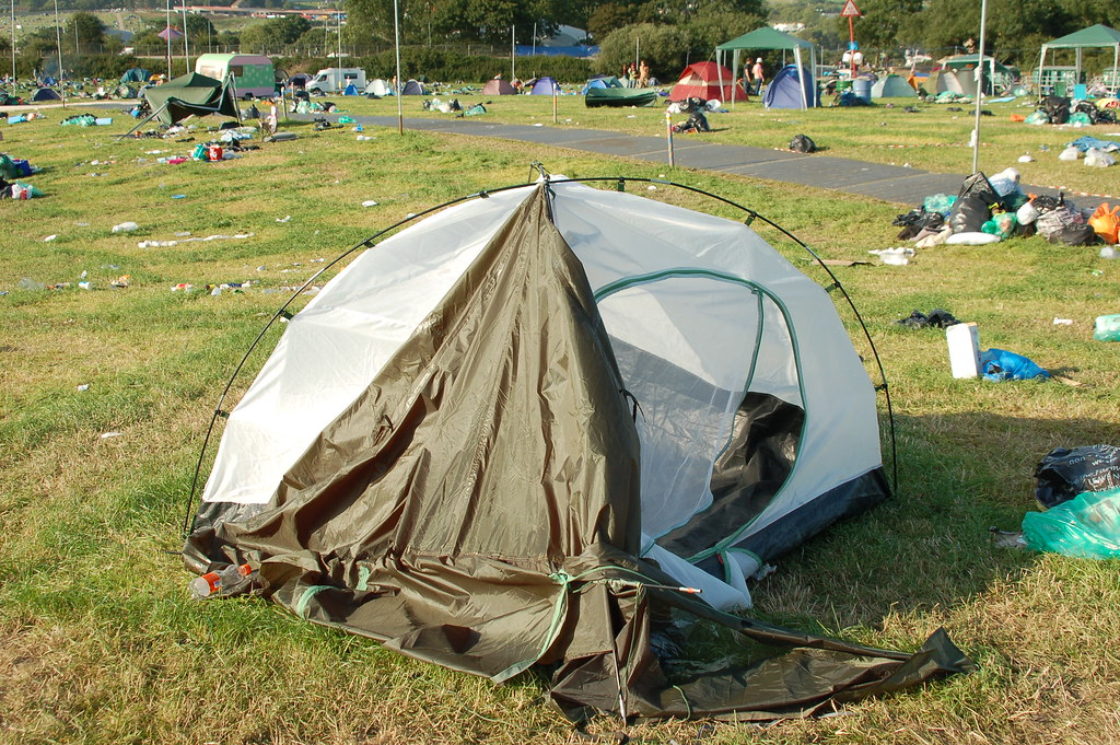 Trashed Tent
