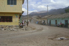 Mayocc - one of the dusty towns on the Huancayo to Ayacucho road