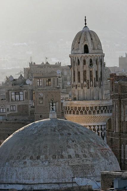 Yemen: mosquée dans le vieux Sanaa.