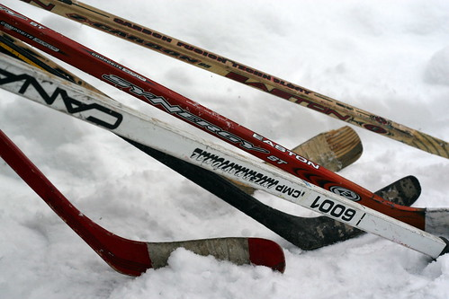 what are hockey sticks made of