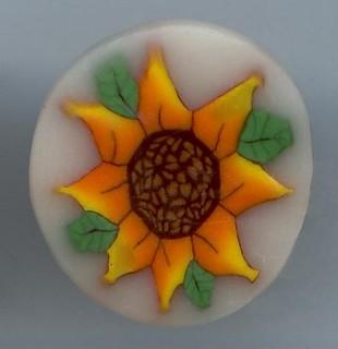 Polymer Clay Millefiori Sunflower Cane