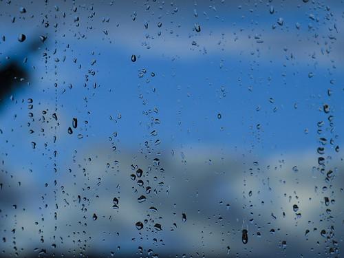 winter sky storm window rain clouds raindrops calmafterstorm