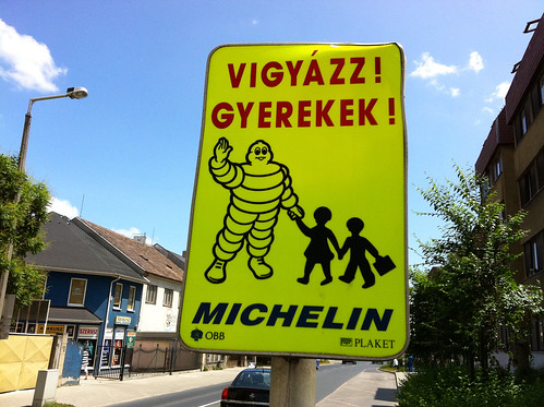 Sopron Hungary - Slow Children Sign | by andynash