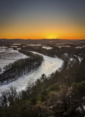 winter sunset composite canon river landscape rebel inn sigma bit 32 hdr obriens chemung 18250 t2i