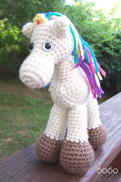 031 Crochet Pattern - HorsE-Bookmark or decor - Amigurumi PDF file ... | 640x426