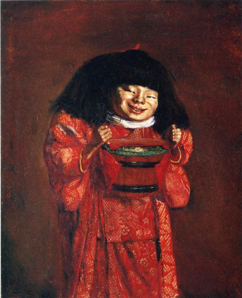 岸田劉生「野童女」(1922)