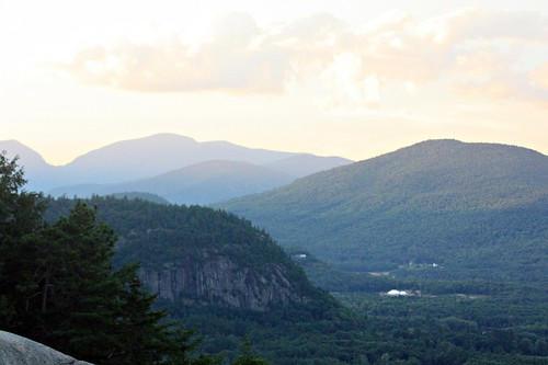 sunset sky mountain view newhampshire cathedralledge mountaintop northconway