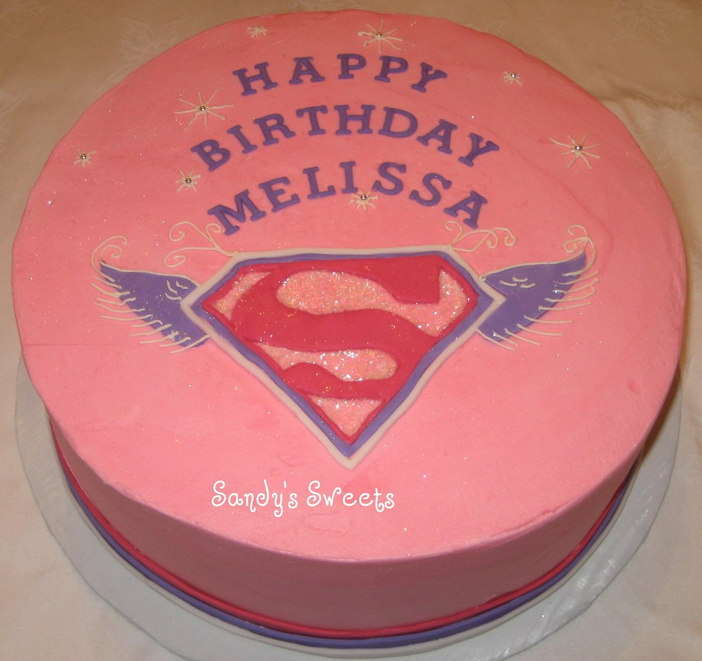 Brilliant Supergirl Birthday Supergirls Pink Birthday Cake Sandy Stone Funny Birthday Cards Online Elaedamsfinfo