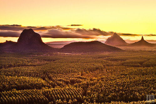 trees sunset mountains yellow pine clouds photoshop canon twilight highway long exposure mask state forrest dusk bruce steve australia joe 7d qld queensland rays dslr glasshouse hdr irwin blend lightroom brosnan beerwah cs5