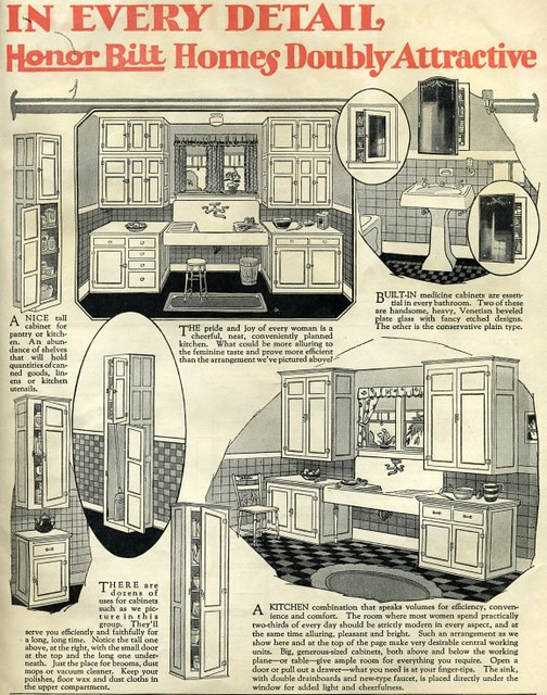 Sears Kit House::Honor Bilt Kitchen::1920 | Sears Modern Hom ...