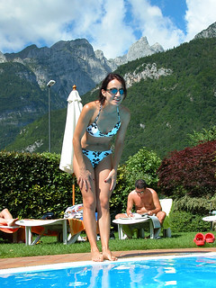 piscina e monti