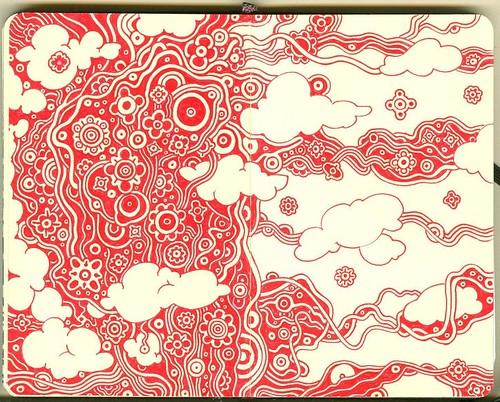 In the wind , Mini moleskine page 11   by Alkaline Samurai