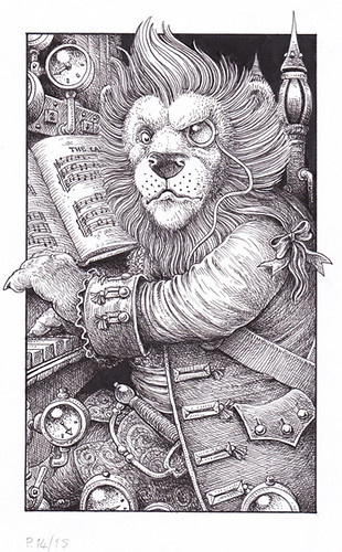 Leopold - A musical lion who plays the steam organ. Obvious really… | by widdershins3