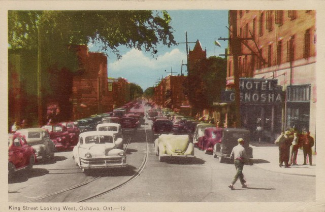 King Street Looking West, Oshawa, Ont.