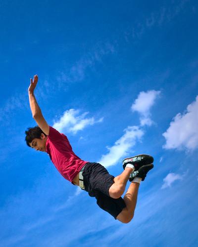 blue boy sky cloud sun mike fun fly photo kid jump eagle thomas journal vivid son scout saturation eaglescout leap 1776 troop soar vio mikethomas michaelthomas tonemap viovio mtphoto cmndrfoggy troop1776
