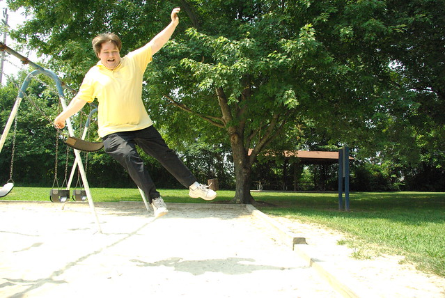 Dave Jumping from a Swing, Some park, Cookeville, TN
