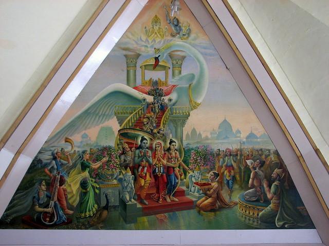 Sri Ram's return to Ayodhya by Pushpak Vimaan @ISKON Temple, New Delhi