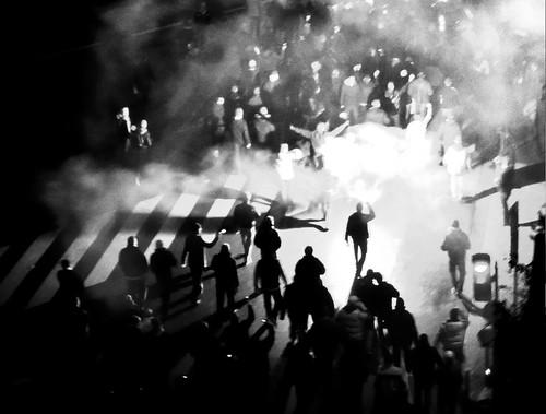 Quelques Manifestants   by 9Novemberist