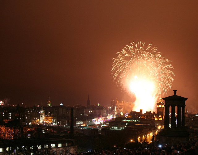 Fireworks over Edinburgh - Happy New Year!
